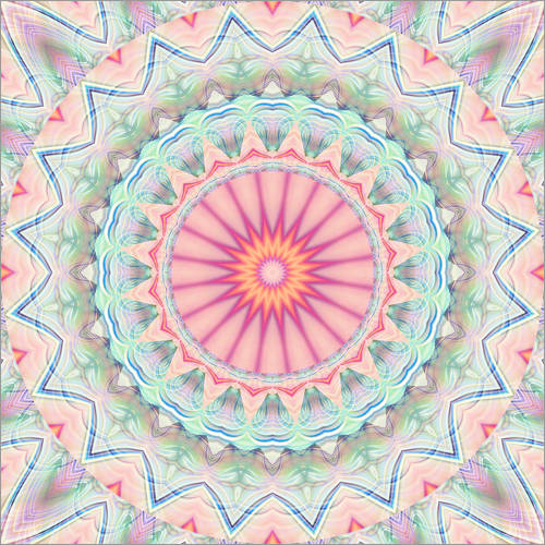 Wall sticker mandala pastel no. 5