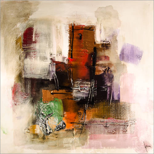 Wall sticker Abstract painting on canvas - modern and contemporary