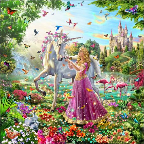Wall Stickers Princess and the Unicorn