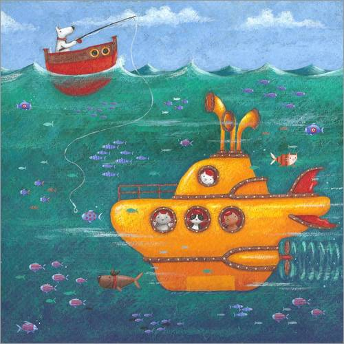 Wall sticker Yellow Submarine