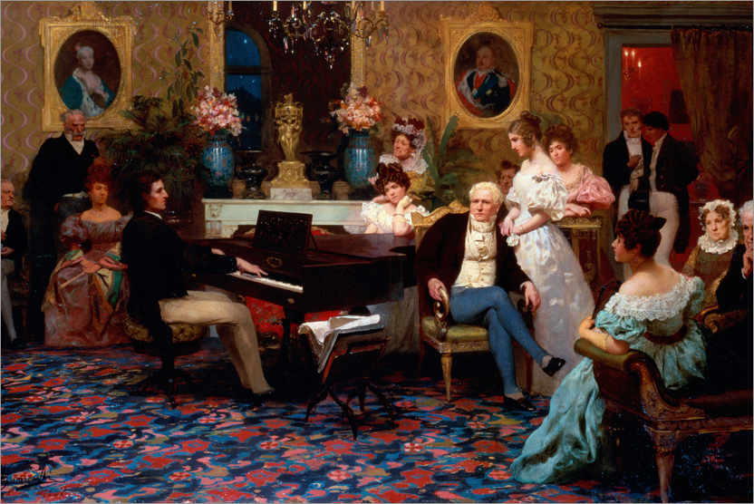 Premium poster Chopin plays in Prince Radziwill's salon