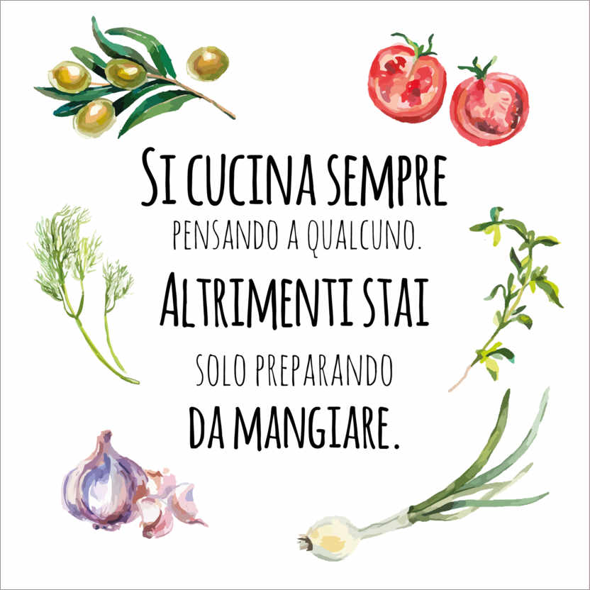 Wall sticker When you cook, you think of someone (Italian)