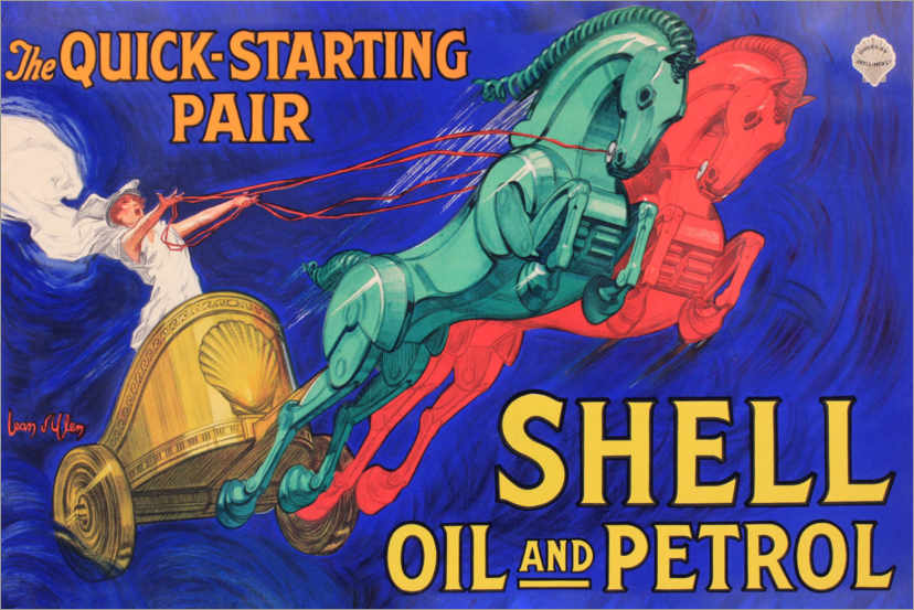 Premium poster Shell oil and Petrol