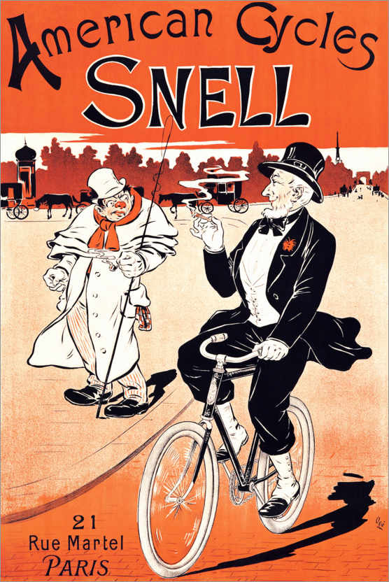 Premium poster American bicycles Snell