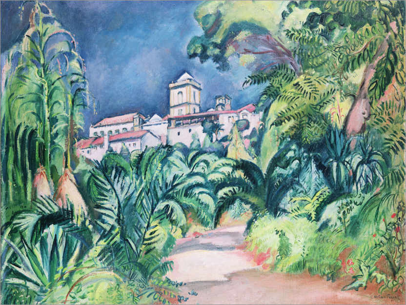 Premium poster Gardens of the University of Coimbra, Portugal