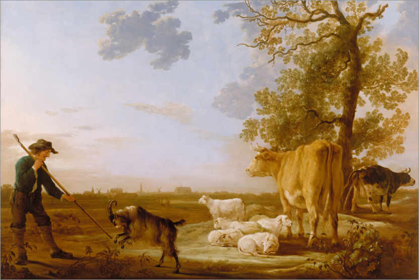 Premium poster Landscape with cattle