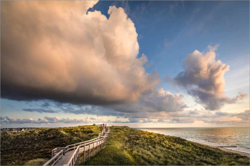 Premium poster Storm clouds over Sylt