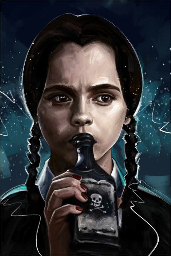 Premium poster Wednesday Addams