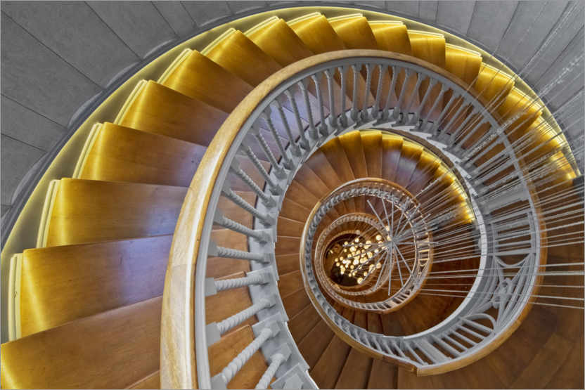 Premium poster Ancient Spiral Staircase
