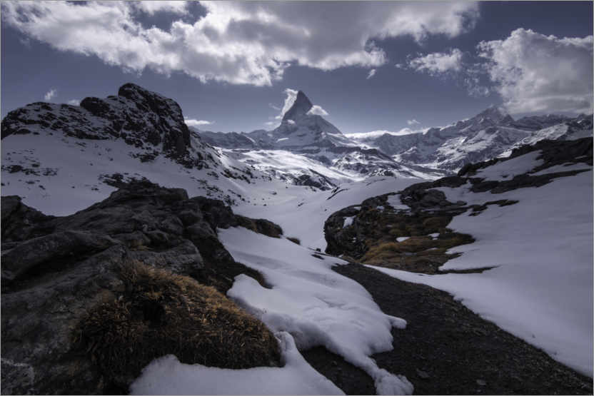 Premium poster Matterhorn in the Swiss Alps near Zermatt