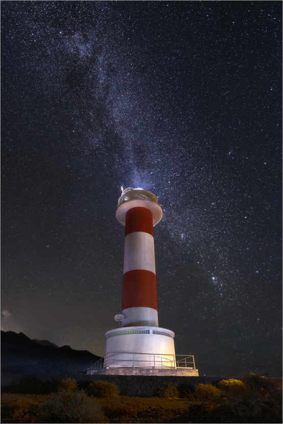 Premium poster Lighthouse of the stars