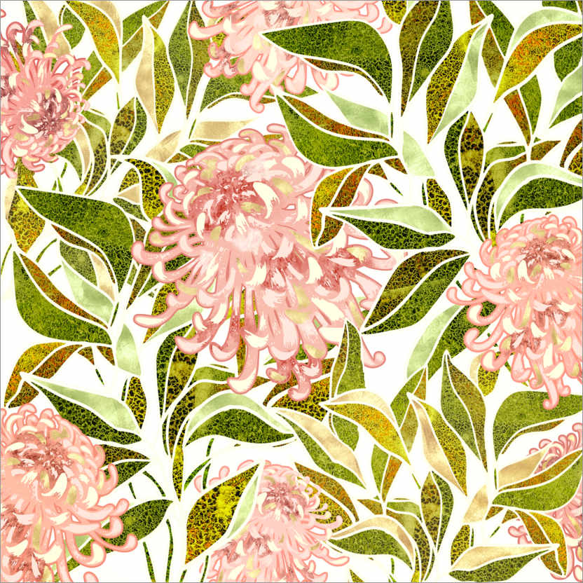 Wall sticker Spring Floral II