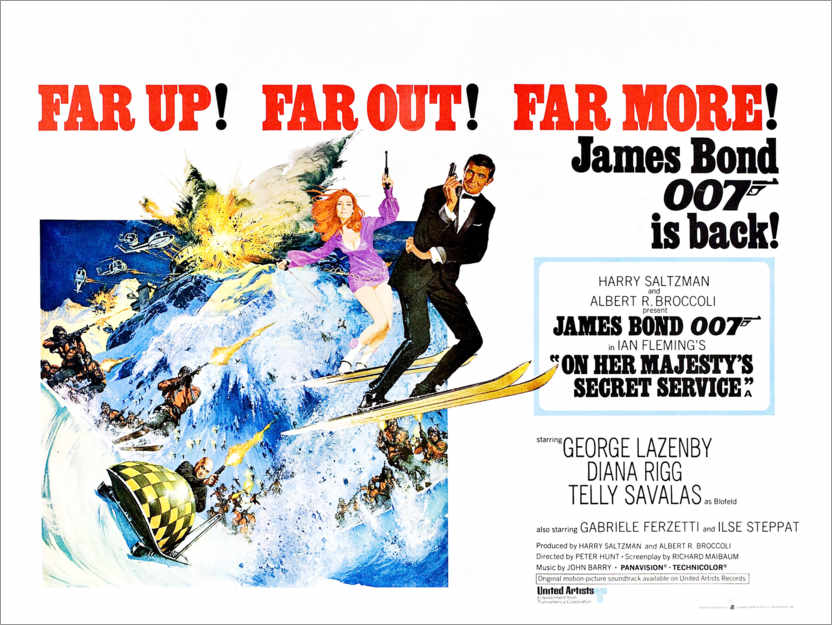 Premium poster On Her Majesty's Secret Service