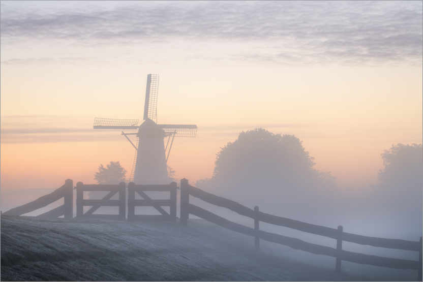 Premium poster Windmill the Vlinder in the Betuwe