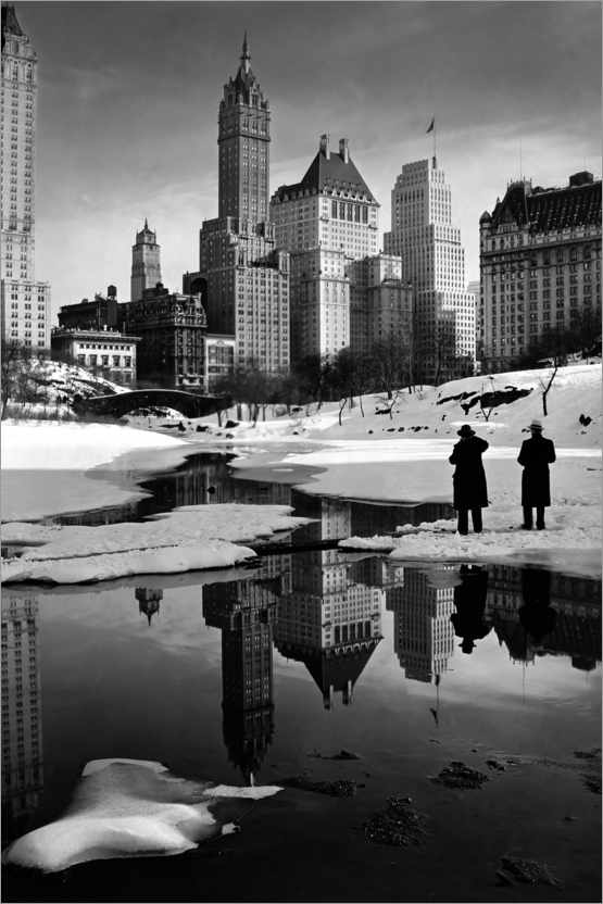 Premium poster Winter in Central Park 1933