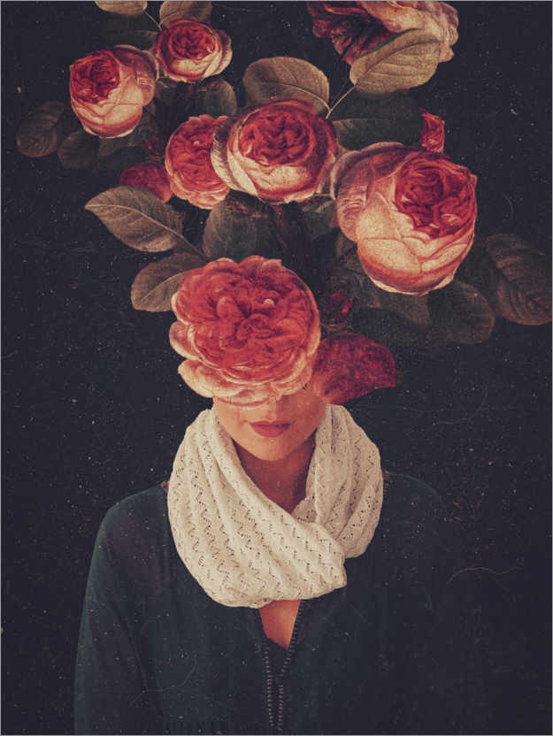 Premium poster The smile of Roses
