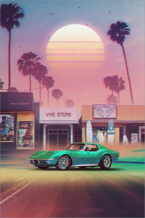 Premium poster Synthwave Sunset Drive