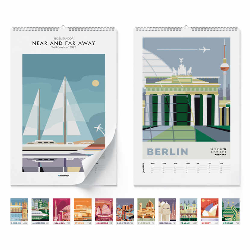 Wall calendar Near and far away 2021