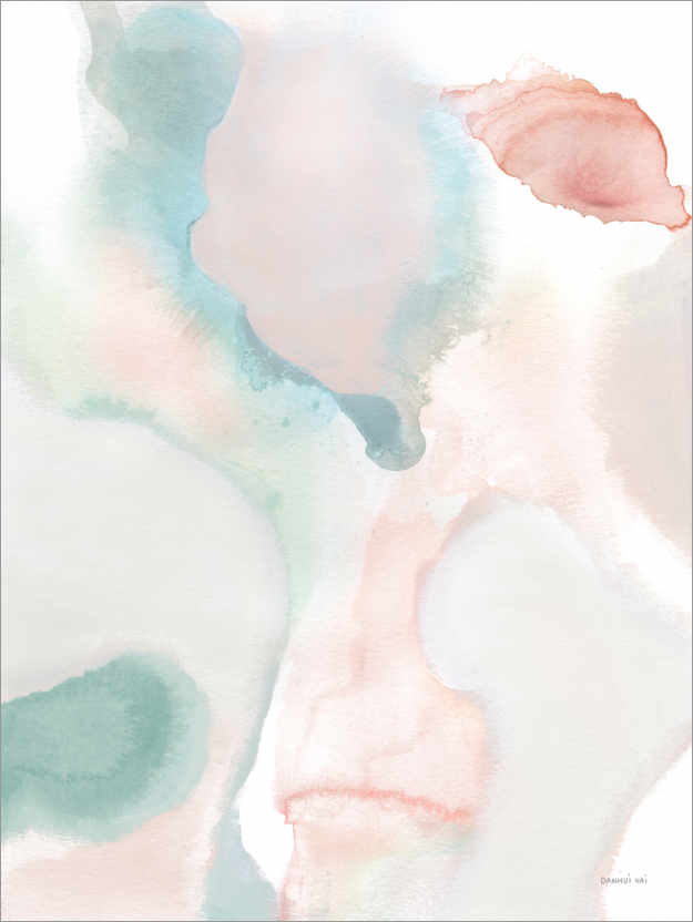 Premium poster Sage and Pink Abstract I