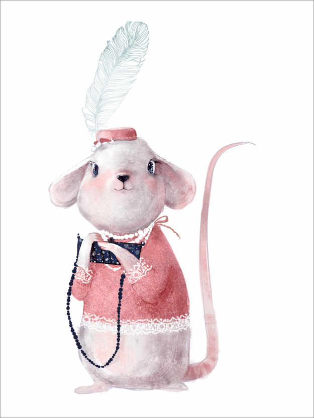 Premium poster Mouse in evening dress