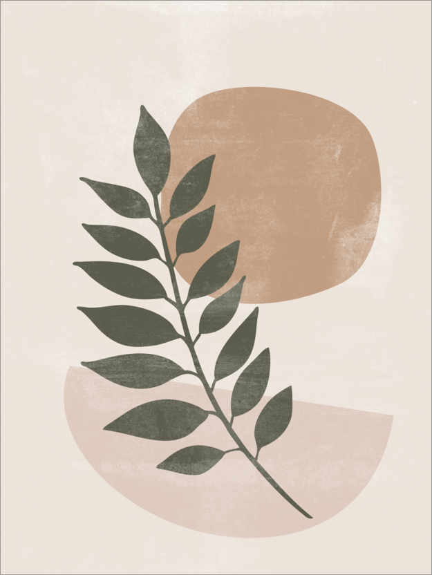 Premium poster Abstract vintage leaves