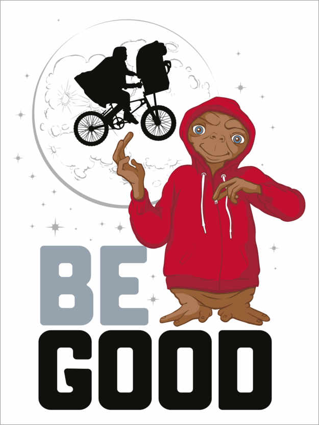Premium poster E.T. - Red Hoodie