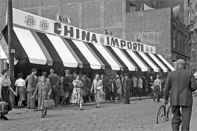 Premium poster Leipziger Messe, sales of goods from China