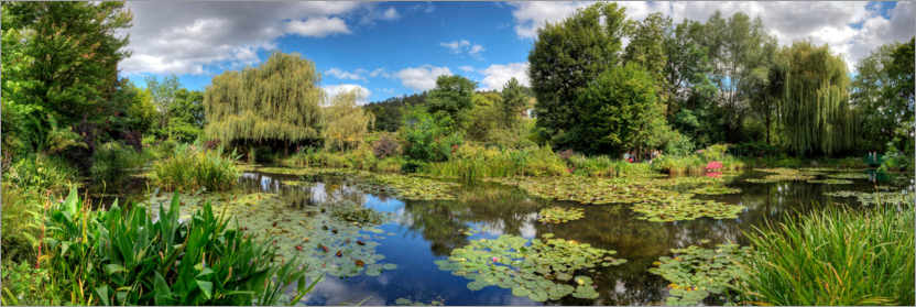Premium poster Water Lily Pond, Claude Monet's Garden, Giverny