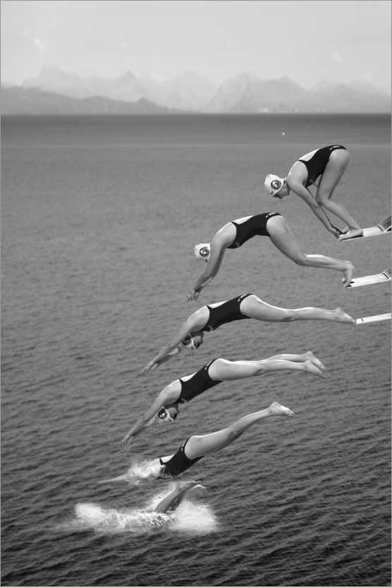 Premium poster The beauty of diving