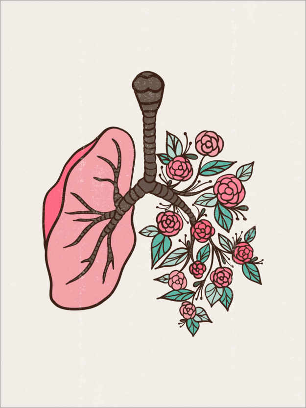 Premium poster Flower lungs I