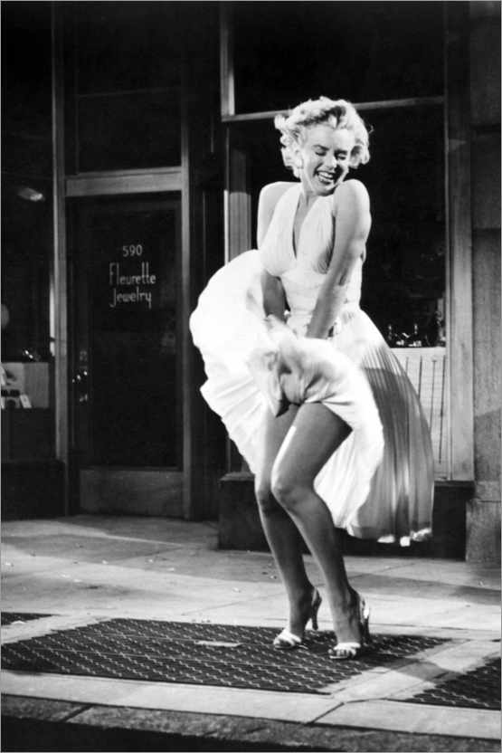 Premium poster Marilyn - The Seven Year Itch iconic pose