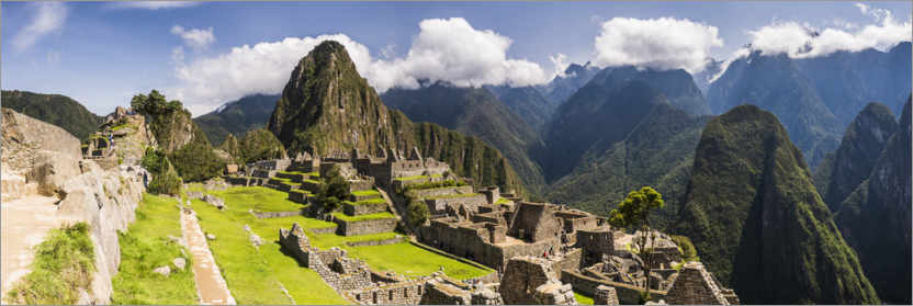 Premium poster Ancient Inca Ruins of Machu Picchu in the Andes Mountains of Peru