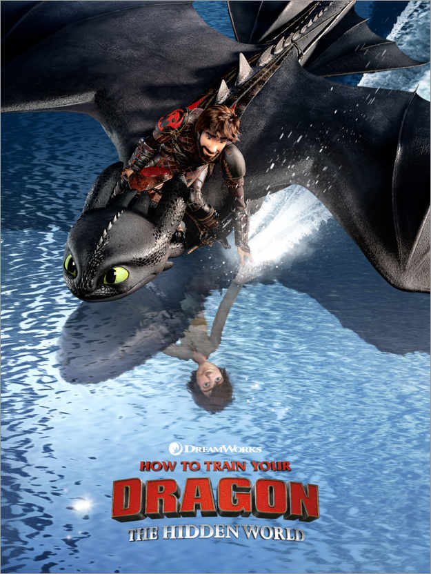 Premium poster The Hidden World - Hiccup & Toothless