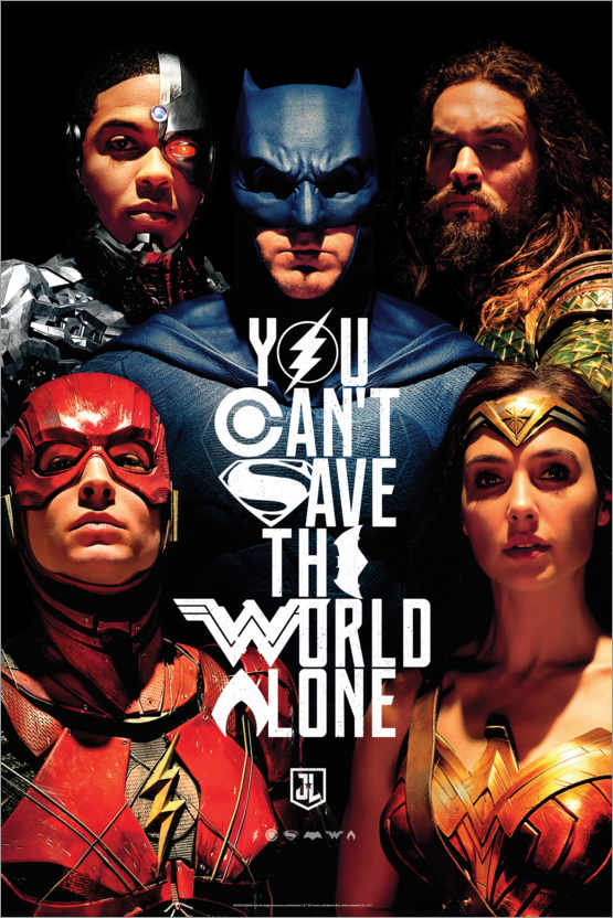 Premium poster Justice League - Can´t save the world alone