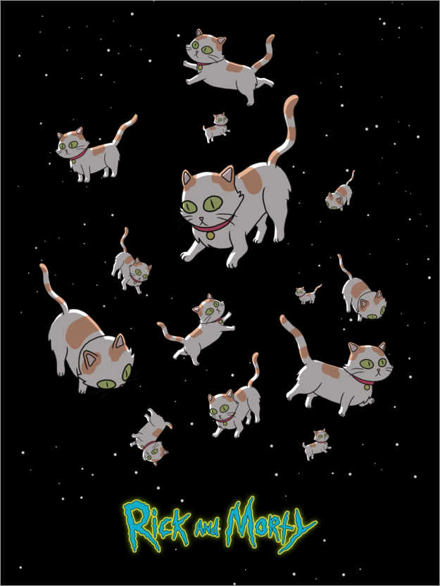 Premium poster Rick and Morty - Space Cats