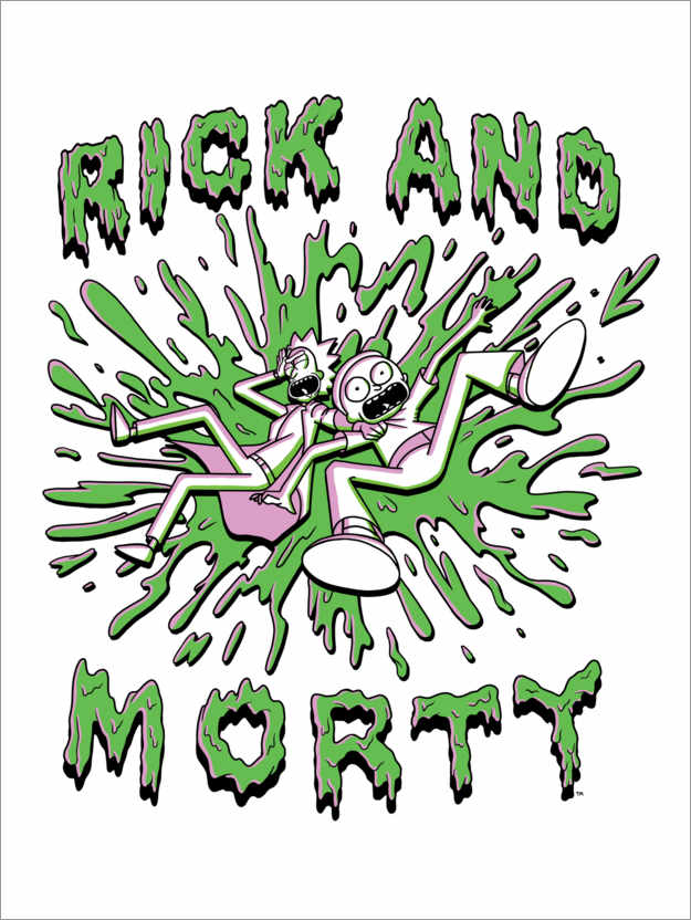 Premium poster Rick and Morty - Crazy green