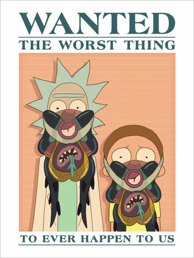 Premium poster Rick and Morty - The worst thing