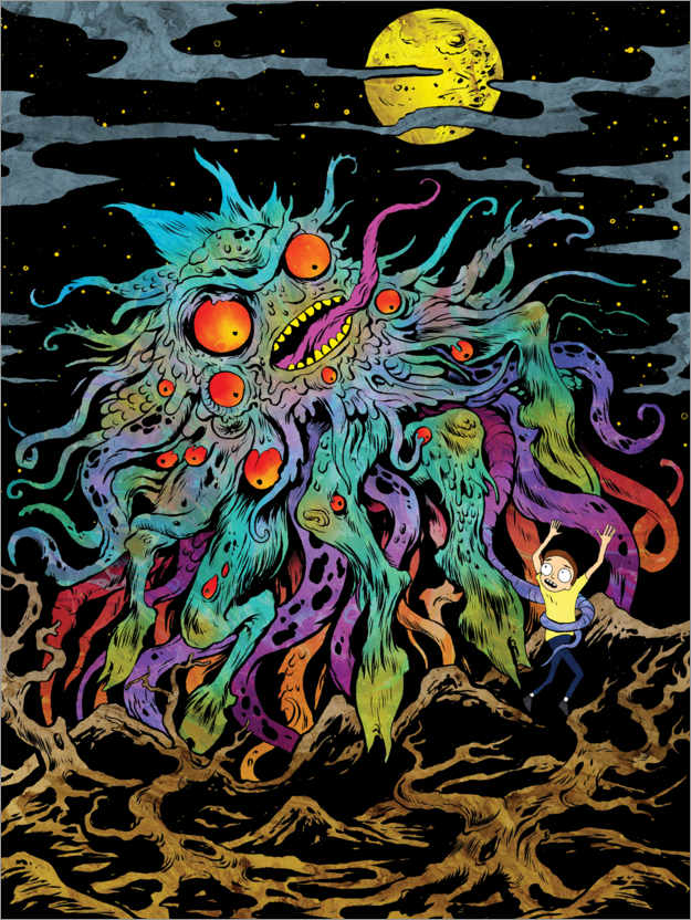 Premium poster Rick and Morty - Monster Moon