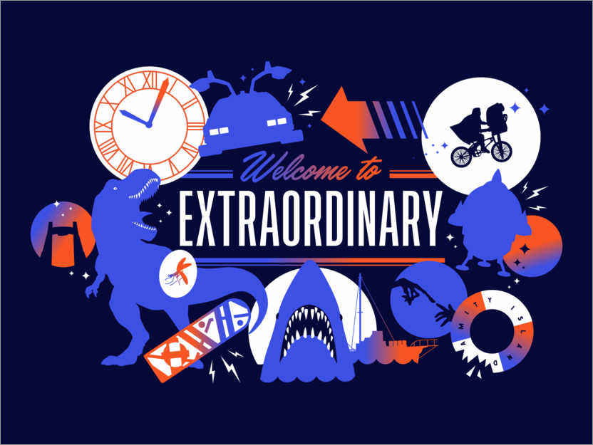 Premium poster Welcome to the extraordinary