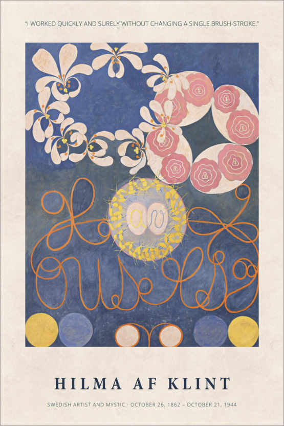 Premium poster Hilma af Klint - Quickly and surely