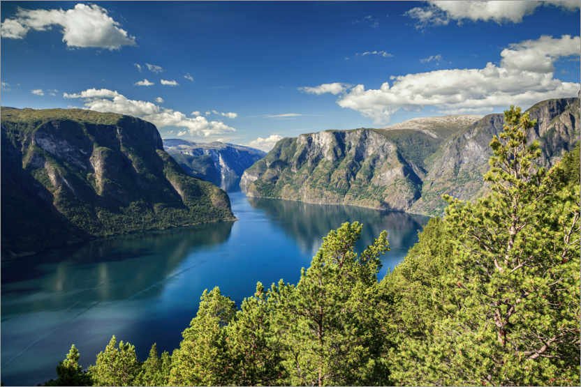 Premium poster Majestic Fjords of Norway