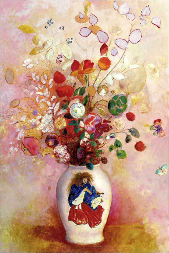 Premium poster Bouquet of flowers in a Japanese vase