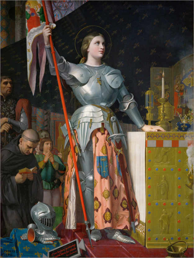 Premium poster Jeanne D'Arc at the coronation of Charles VII.