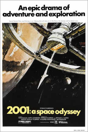 Aluminium print  2001: A Space Odyssey - Entertainment Collection