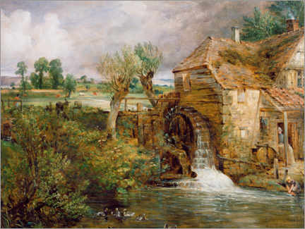 Canvas print  Mill in Gillingham - John Constable