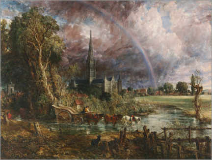 Canvas print  Salisbury Cathedral - John Constable