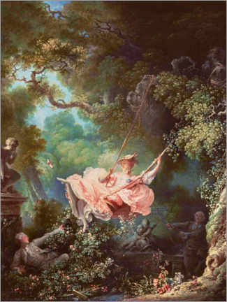 Aluminium print  The swing - Jean-Honoré Fragonard