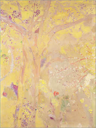 Premium poster Yellow Tree