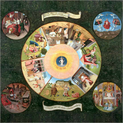 Wall sticker  The Seven Deadly Sins and the Four Last Things - Hieronymus Bosch