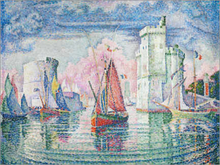 Wood print  The Port at La Rochelle - Paul Signac